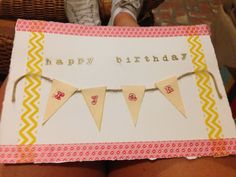 DIY birthday card #diy #birthday #typography