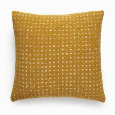 "Unison Home PEBBLE OCHRE KNIT 17X17"" THROW PILLOW"