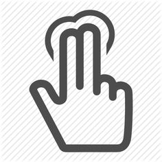 click, finger, fingers, gesture, gestureworks, hand, select, tap, touch, two icon