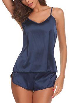 Sexy Pajamas, Satin Pajamas, Pajamas Women, Sleepwear Women, Lingerie Sleepwear, Nightwear, Silk Sleepwear, Lingerie Sets, Lingerie Underwear