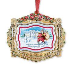 2011 White House Christmas Ornament, Santa Visits the White House - Ornaments - Christmas | The White House Historical Association