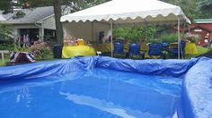 Hay bale pool for the party!