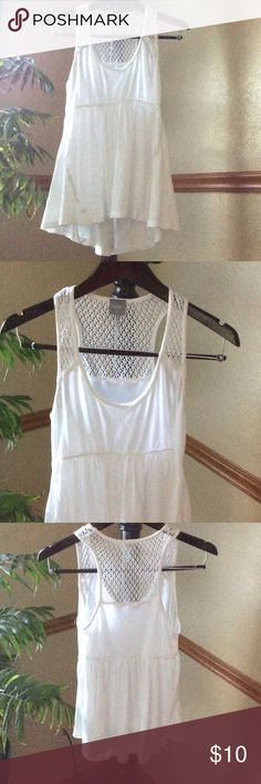 White detailed cute summer top. White summer top in excellent condition. Bobi Tops