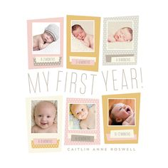 Baby's first year photo collage
