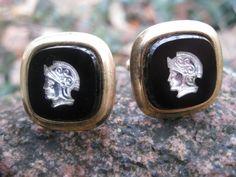 Vintage Roman Legion Cufflinks Silver Tone by TreeTownPaper, $14.00
