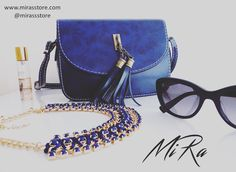 AnnaBelle necklace and Mystique bag 💙💙 www.mirasstore.com