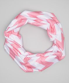 Another great find on #zulily! Pink Chevron Infinity Scarf by Little Gem #zulilyfinds
