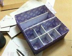 diy karton unterw sche aufbewahrungsbeh lter 1 diy aufbewahrung pinterest diy karton. Black Bedroom Furniture Sets. Home Design Ideas