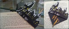 Hogwarts corner bookmark (THIS IS AMAZING!)