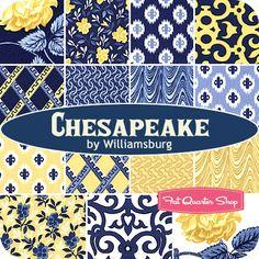 Chesapeake Fat Quarter Bundle Williamsburg for Windham Fabrics - Fat Quarter Shop