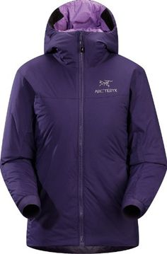 Arc'teryx Atom SV Hoody - Women's Blackberry Large Atom Series: Synthetic insulated mid layers | SV: Severe Weather. Warm insulated Coreloft™ jacket with an insulated hood; Ideal for use as a super-warm mid-layer in cold conditions, or as a stand-alone piece in warmer conditions.. Breathable, Lightweight, Wind resistant, Insulated. Compressible and packable. Moisture-resistant outer face fabric.... #Arc'teryx #Sports