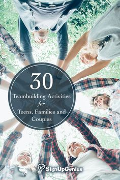 30 Team Building Activities for Teens, 30 team building activities and games for teens, families and couples. Build trust and. Youth Group Games, Team Games, Family Games, Youth Groups, Kid Games, Small Groups, Bonding Activities, Youth Activities, Therapy Activities