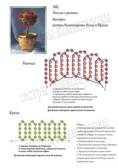 Схема бонсая с розами | biser.info - всё о бисере и бисерном творчестве