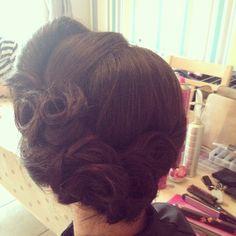Vintage upstyle by me Vintage Hairstyles, Wedding Hairstyles, Hair Inspo, Bridal Hair, Dreadlocks, Long Hair Styles, Beauty, Long Hairstyle, Wedding Hair
