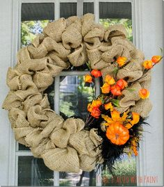 DIY...how to make a burlap wreath