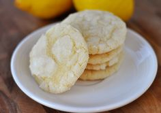 Lemon Crinkles. Love lemon anything! These turned out just like the picture.