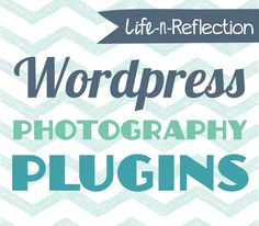 WordPress Plugins for Photographers