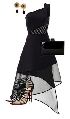 A fashion look from June 2016 featuring David Koma dresses, Christian Louboutin sandals and Natasha clutches. Browse and shop related looks. Cute Party Outfits, Classy Outfits, Chic Outfits, Dress Outfits, Sexy Dresses, Cute Dresses, Beautiful Dresses, Fashion Dresses, Look Fashion