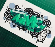 "1,565 отметок «Нравится», 26 комментариев — SpeedOne // SPone (@thespeedone) в Instagram: «Battlesketch ""Time"" for @ultimate_style_championship ! #time #sketch #3d #graff #graffiti…»"