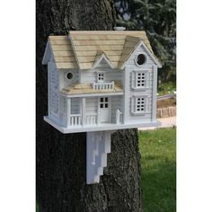 This regal Kingsgate Cottage Birdhouse has everything needed to attract the birds in your area. It is easy to mount and to clean, ensuring the birds will be chirping here all day.
