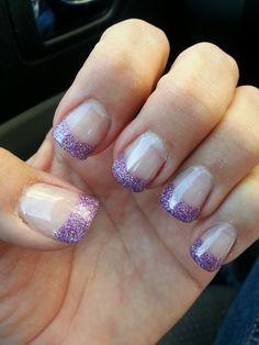 Love my purple tips