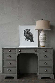 gray furniture + owls = <3