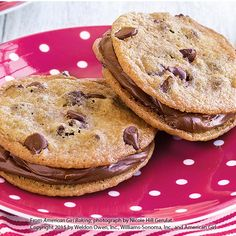 Chocolate Chip Cookie Sandwiches Recipe by American Girl