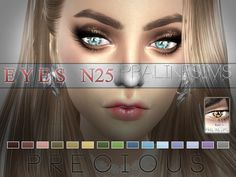 The Sims Resource: Precious Eyes | 15 Colors / N25 by Pralinesims • Sims 4 Downloads
