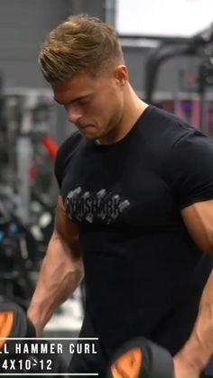 Workout Without Gym, Gym Back Workout, Running Workout Plan, Weight Training Workouts, Big Biceps Workout, Chest Workout For Men, Bicep And Tricep Workout, Dumbbell Workout, Workout Videos For Men