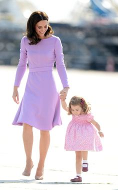 """♕ Her Royal Highness Catherine, Duchess of Cambridge, with her daughter Princess Charlotte. """"Always treat others as they themselves wish to be treated. It's more effective than treating them as you wish yourself to be treated."""" - Deodatta V. Shenai-Khatkhate"""