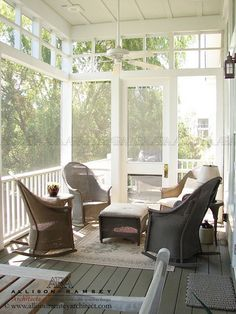 screened porches - The Key Cottage by Allison Ramsey Architects