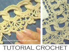 Clase gratis de tejido crochet como hacer una puntilla