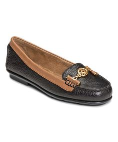 Another great find on #zulily! Black & Tan Nuwlywed Leather Loafer #zulilyfinds