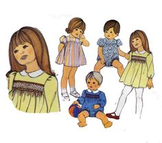 Child's Smocked Dress and Romper Sewing Pattern by HoneymoonBus, $7.99