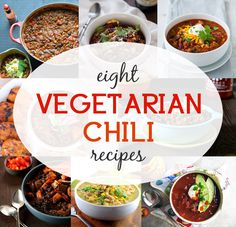 """8 Vegetarian and Vegan Chili Recipes for Fall"" ... Can't wait to try the black bean and lentil recipe. Love chili. One of my favorite foods during fall/winter!"