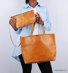 Leather Tote Bag Shoulder bag for women leather bag laptop
