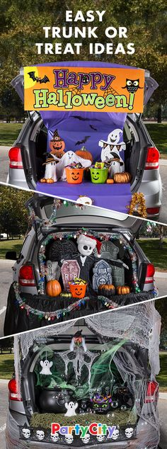 From simple to spooky, these creative and easy decorating themes for trunk or treat Ideas will make your theme car hoppin'!