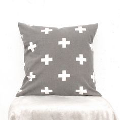 Hey, I found this really awesome Etsy listing at https://www.etsy.com/listing/219824435/plus-sign-pillow-swiss-cross-pillow-gray