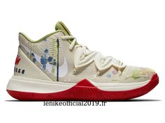 Bandulu x Nike Kyrie 5 Embroidered Splatters CK5836-100 Chaussure de Basketball Pas Cher Pour Homme