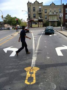 Montreal gets some new road markings