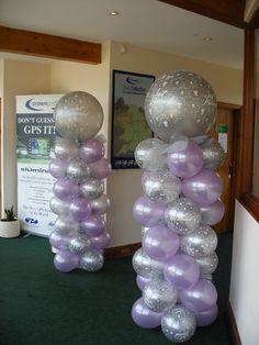 Wedding balloon columns