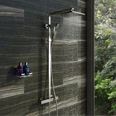 The Tetra riser system is a great way to add contemporary style to your new shower enclosure. The designer square chrome rail and Quadra valve works wonderfully with the stylish shower head and the added feature of a designer handset completes the look. Bath Shower Mixer Taps, Shower Valve, Brass Shower Head, Shower Heads, Shower Head Holder, Shower Fittings, Shower Rail, Contemporary Shower, Contemporary Style