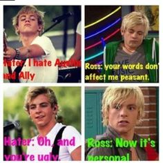 Hahah! who could not like austin and ally and nobody can not think hes cute