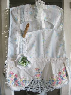 Vintage Clothespin Bag  Shabby Cottage by SweetMagnoliasFarm, Sold to a Good Home !