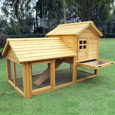 Small Villa chicken coop hen house rabbit hutch guinea pig ferret hutch cage  (8029)