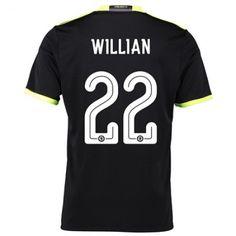 Chelsea 16-17 #Willian Borges da Silva 22 Udebanesæt Kort ærmer,208,58KR,shirtshopservice@gmail.com