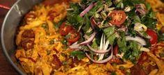 Chicken paella recipe.