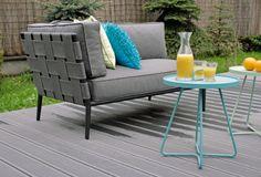 Sofa  Conic Lounge Cane-line; Stoliki on-the move Cane-Line;