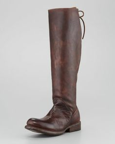 Rustic Manchester Boot, Teak by Bed:Stu at Neiman Marcus.