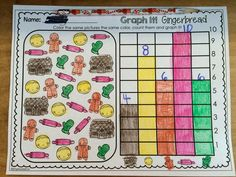 Graph It! Gingerbread FREEBIE! Directions: Students will color the same pictures the same color, count them and graph it!